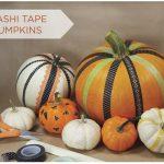 Decorar calabazas con washi tape