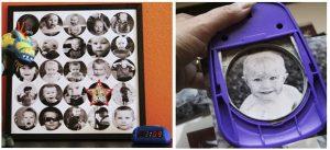 DIY Foto Collage con troqueladora de círculo