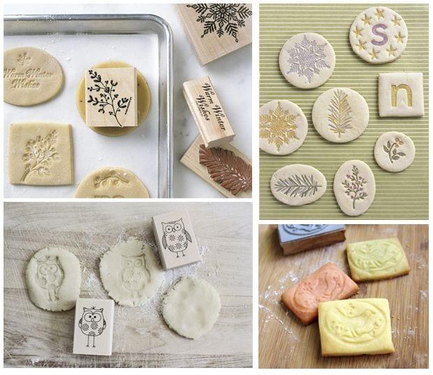 Inspiración} Sellos de goma para estampar... ¡galletas! :-)