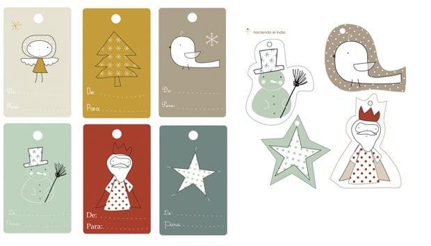 Navidad 20 sets de etiquetas de navidad 100% molonas