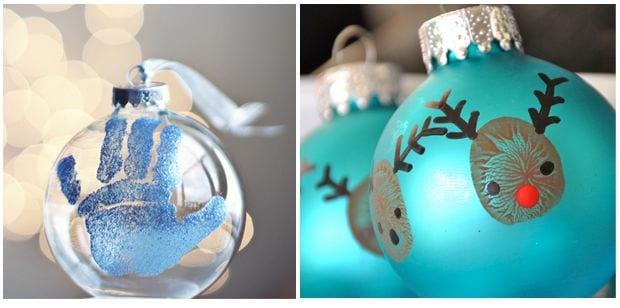 Peque diy 3 proyectos para dejar huella en la navidad - Manualidades bolas de navidad ...