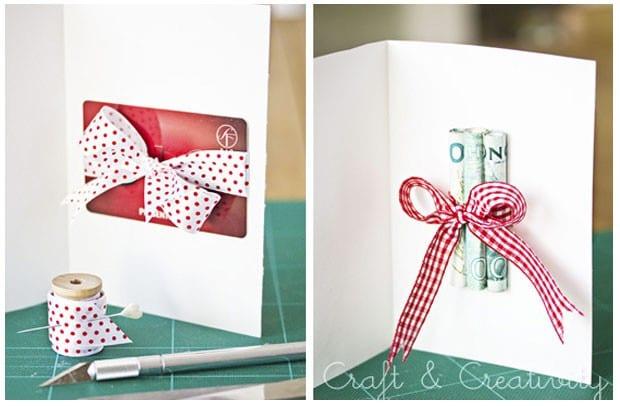 Diy 5 ideas para regalar dinero o tarjetas regalo - Ideas para envolver regalos navidenos ...