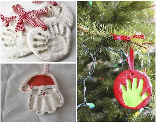 Manualidades con huellas de mano (Navidad)