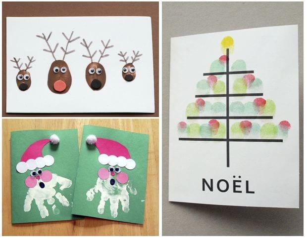Peque diy 3 proyectos para dejar huella en la navidad - Ideas para hacer postales de navidad con ninos ...