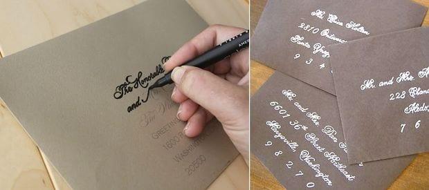 DIY / Cómo hacer una bonita caligrafía para tus cartas o invitaciones de boda