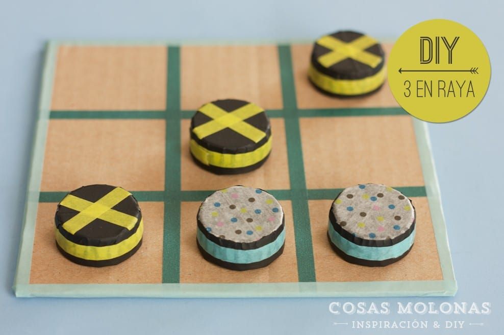 Diy Tres En Raya Con Carton Y Washi Tape