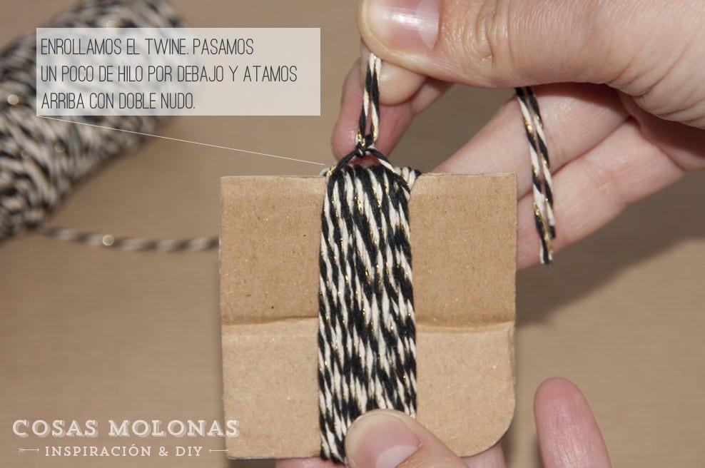 DIY: Borla de twine en www.cosasmolonas.com