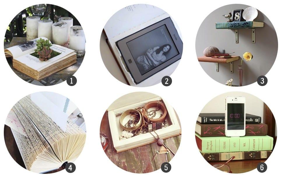 24 DIY con libros