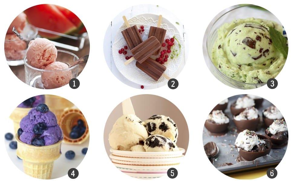30 bocados de helado casero