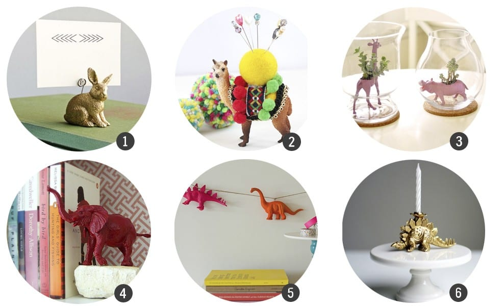 Tendencias DIY: animales de plástico