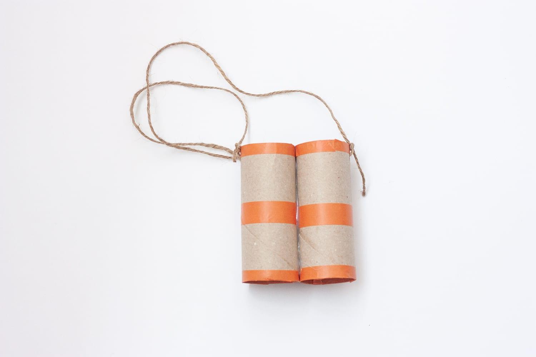 Manualidades para niños/ Prismáticos de cartón reciclado y washi tape