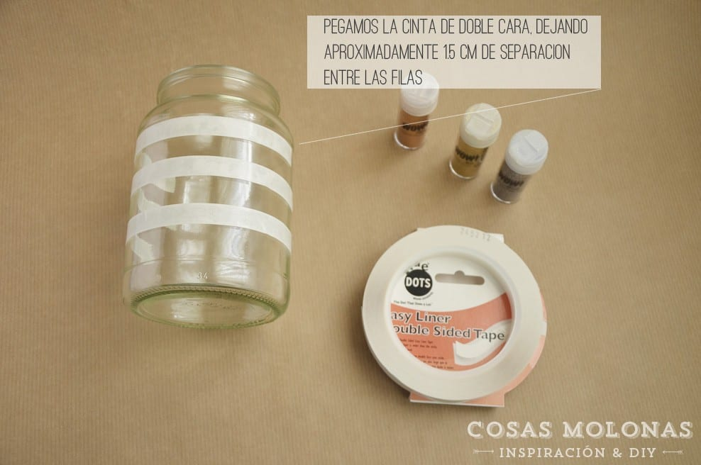 DIY: Tarro decorado con brillantina