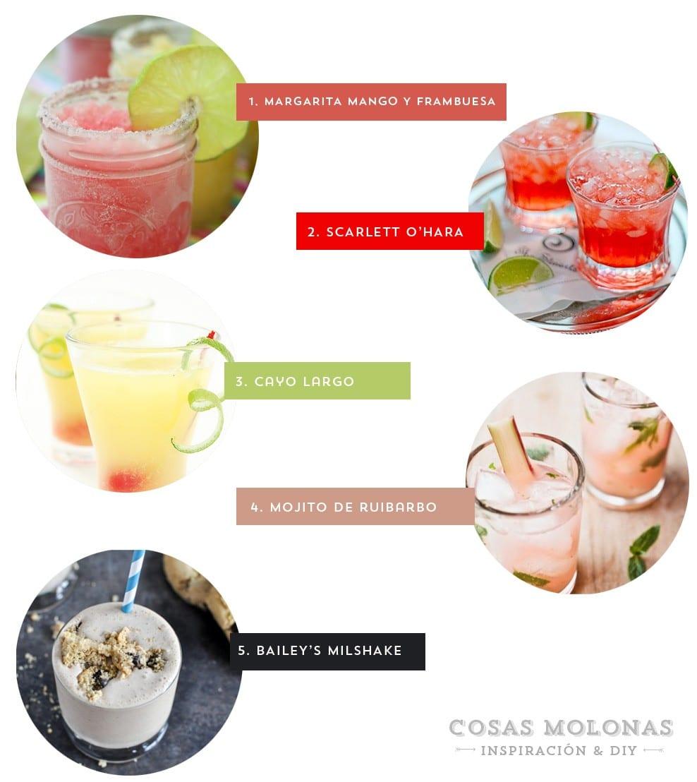 5 cocktails para probar este fin de semana blog.cosasmolonas.com