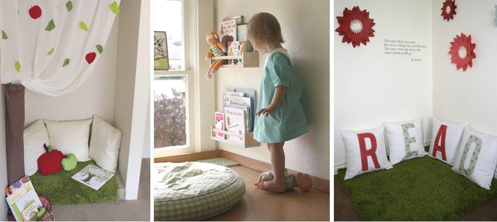 Como hacer un rincón de lectura acogedor para niños