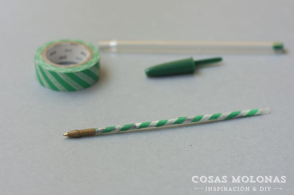 DIY clásicos de washi tape n.2: bolígrafo o lápiz customizado