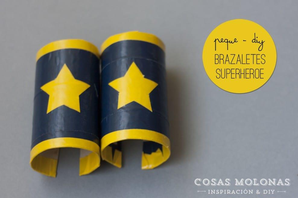 Peque-DIY: Brazaletes de superhéroe con cartón reciclado