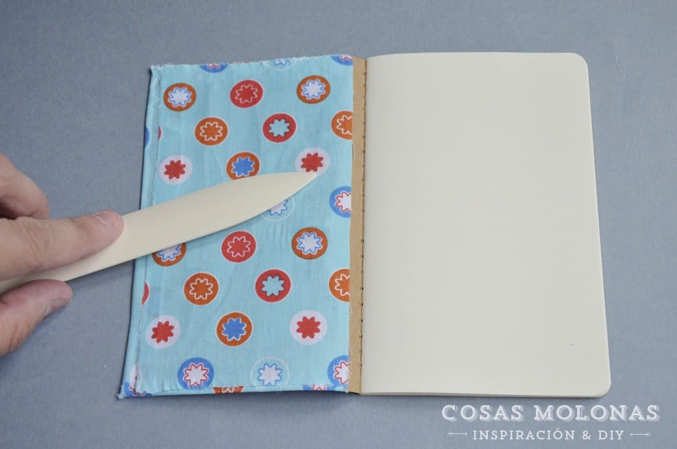 DIY Libreta customizada con tela y mod podge