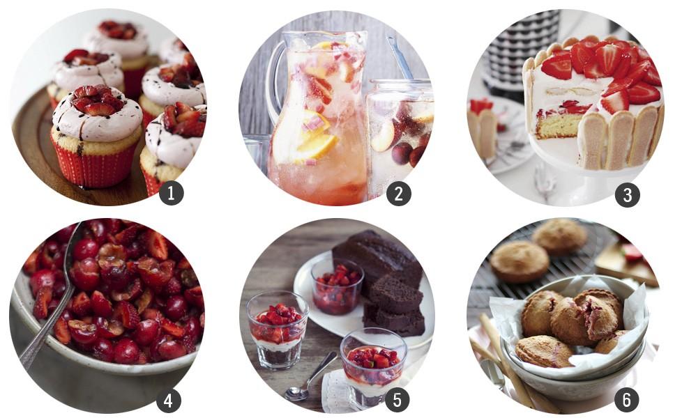30 bocados de fresa