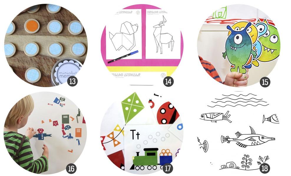 18 Imprimibles para aprender y jugar en las vacaciones escolares