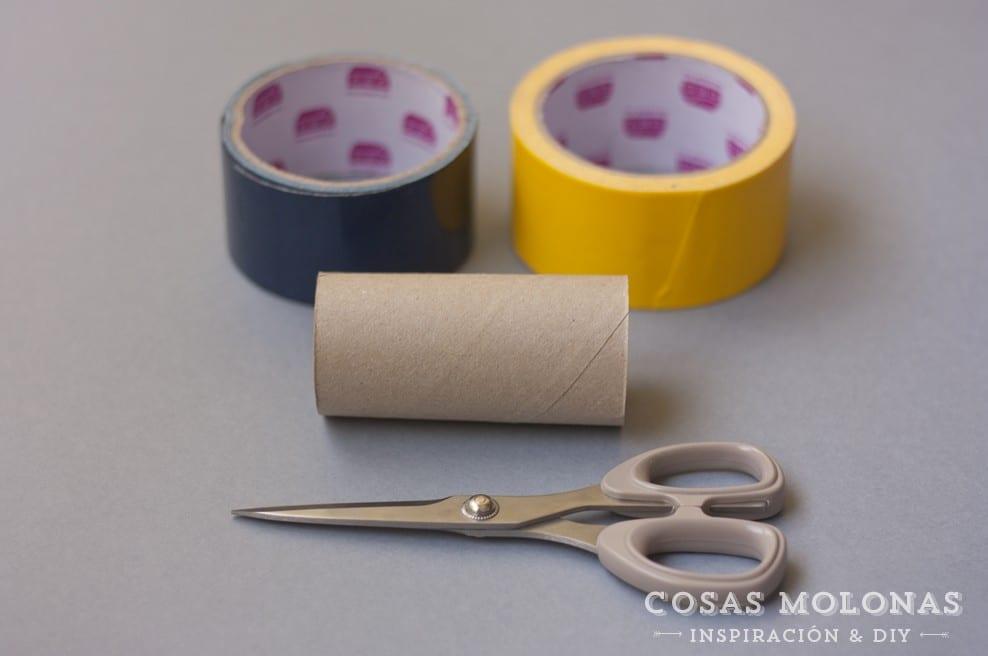 Manualidad con cartón de papel higiénico