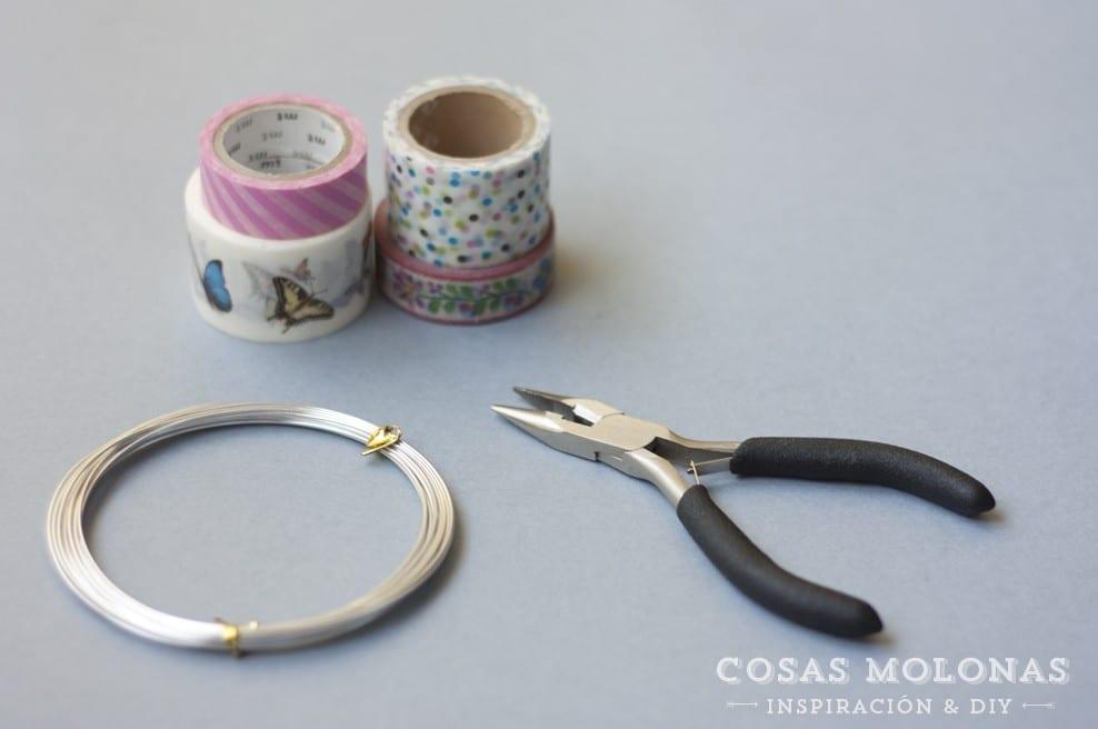 DIY clásicos de washi tape n. 14: ataduras de alambre