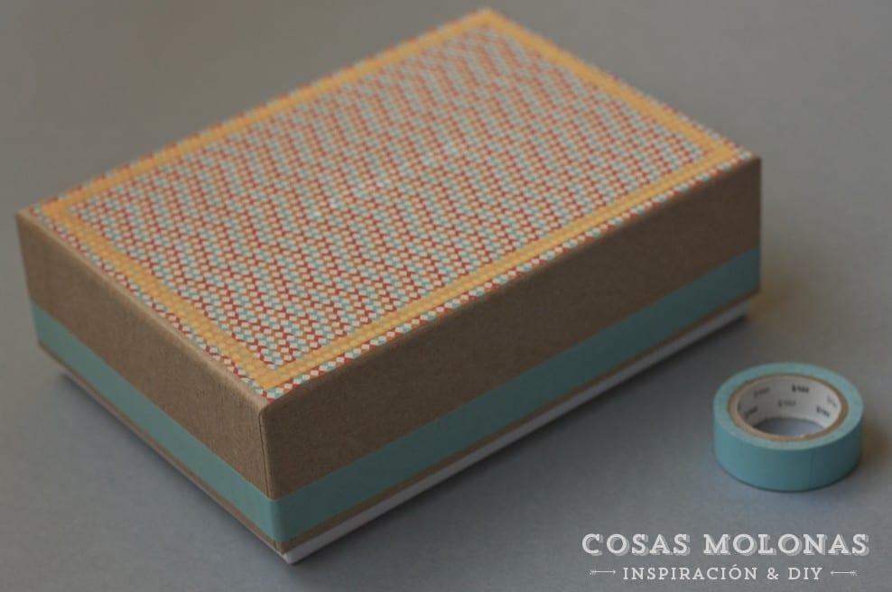 DIY Clásicos de washi tape #8: Caja de cartón customizada