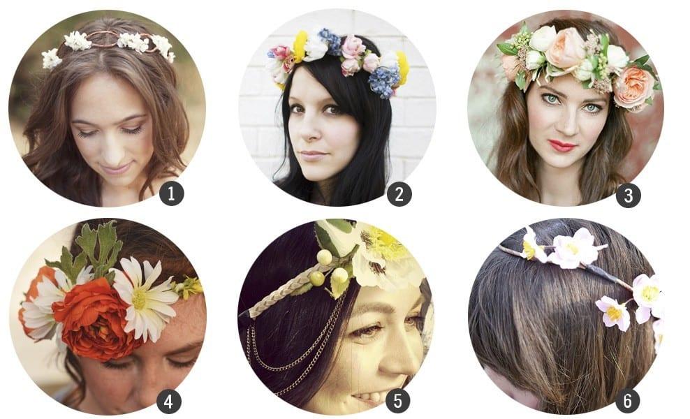 18 DIY de coronas de flores
