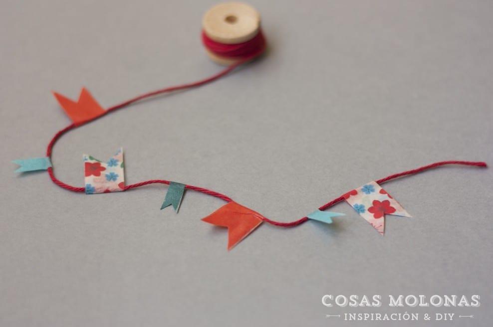 Cómo hacer una guirnalda con washi tape