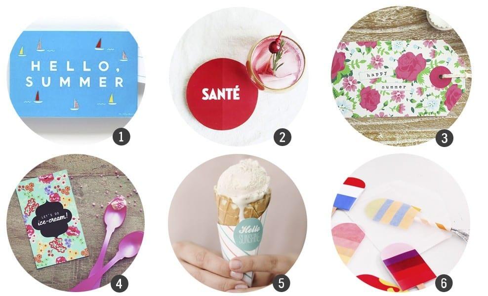 18 imprimibles gratis inspirados en el verano