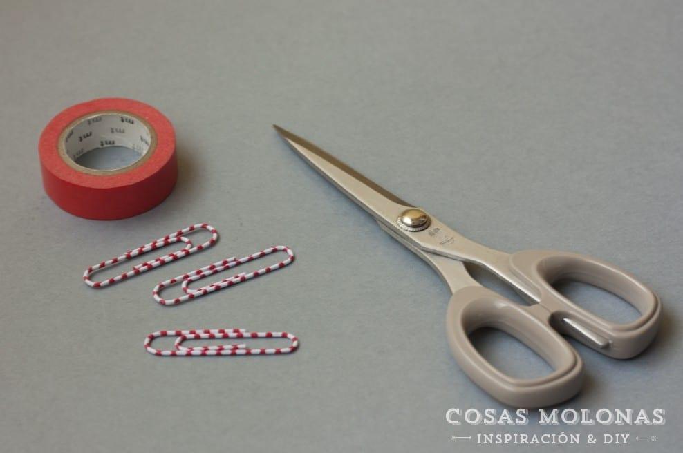 DIY Clásicos de washi tape n.6: marcapáginas con clip