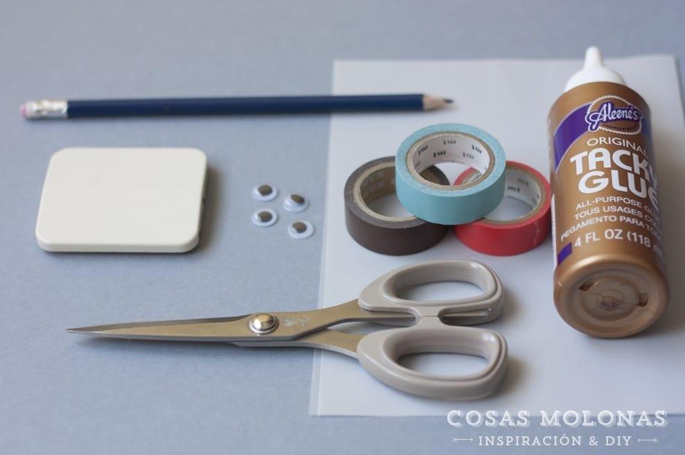 DIY clásico de washi tape n.11: Interruptor de la luz infantil