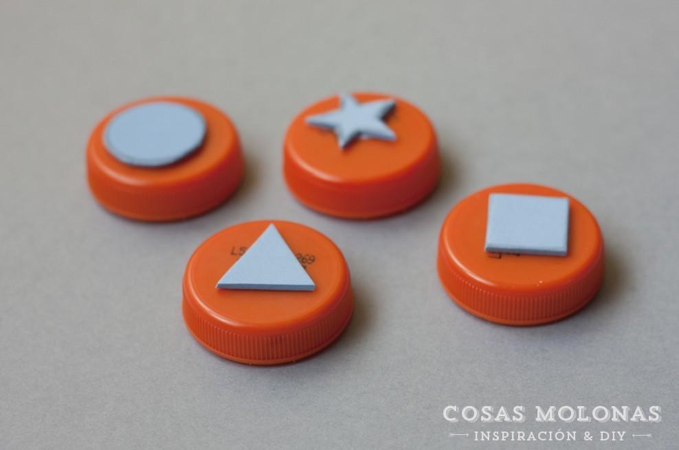 Manualidades para niños: sellos fáciles con goma eva