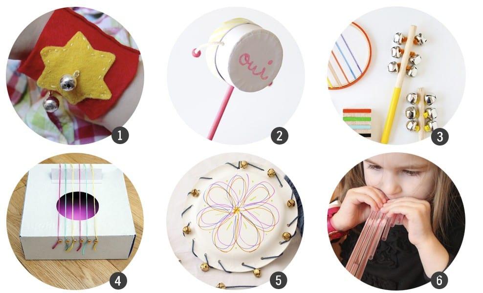 12 DIY de juguetes musicales