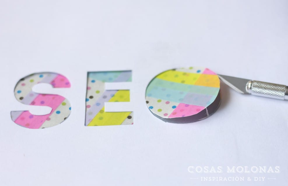 DIY Clásicos de washi tape: Siluetas o letras para decorar