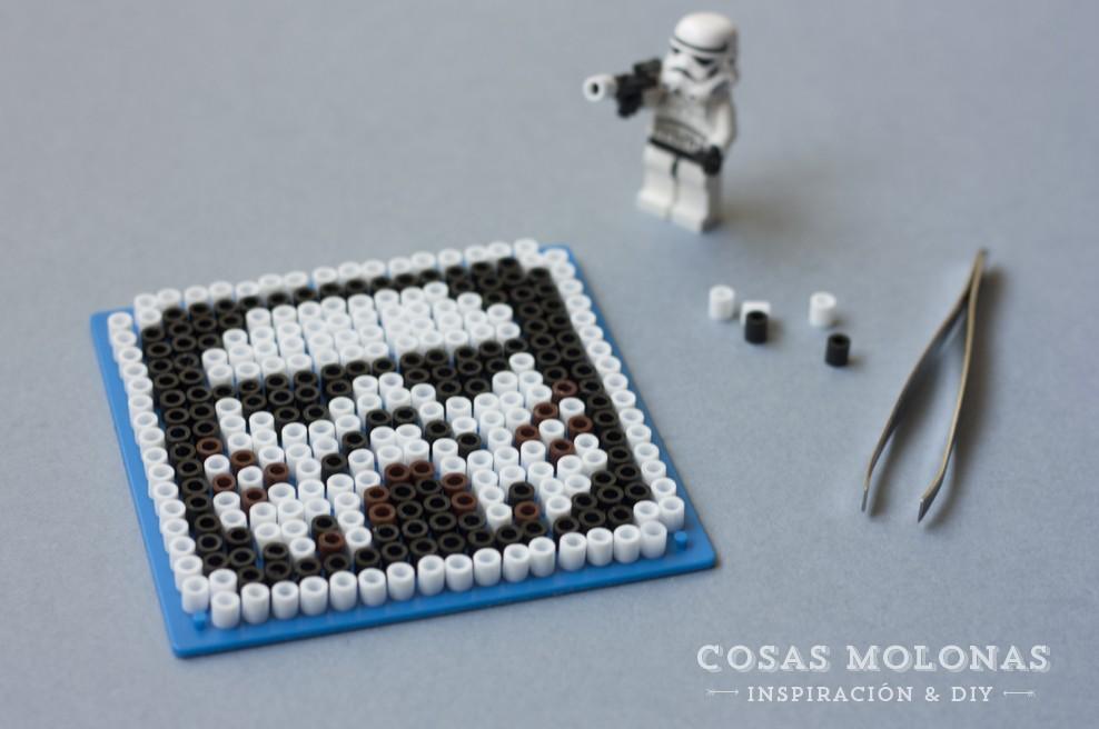 DIY Stormtrooper con pyssla (posavasos) / DIY coaster Stormtrooper with pyssla