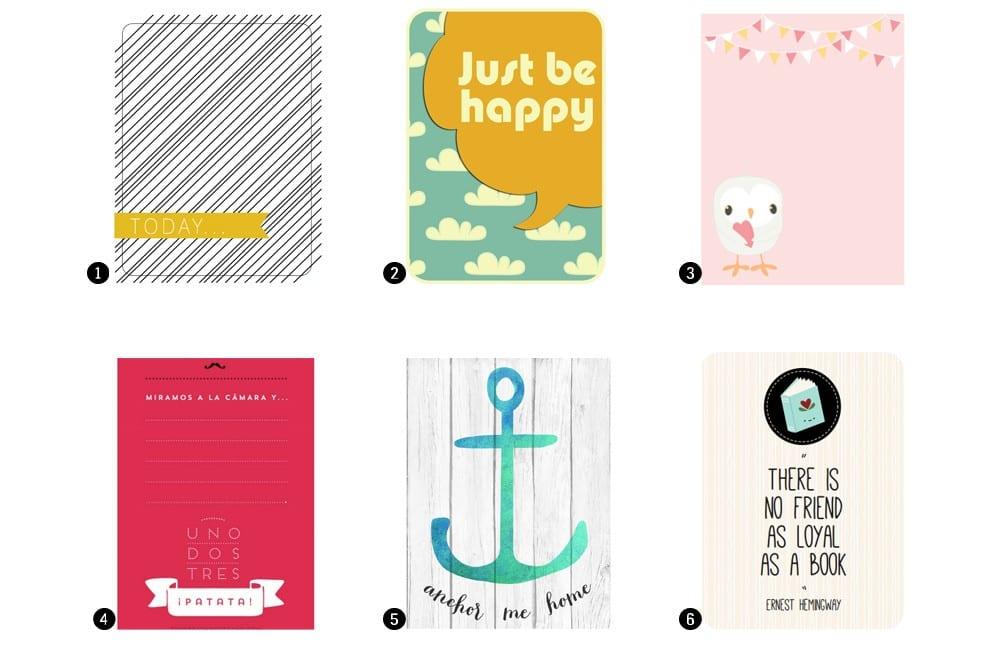 Imprimibles gratis: Tarjetas para Project Life