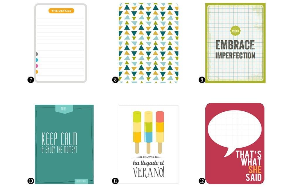 Tarjetas Project Life imprimibles gratis