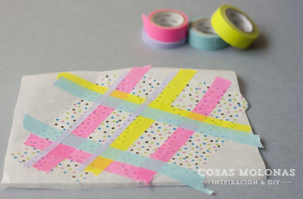 Siluetas o letras para decorar con washi tape