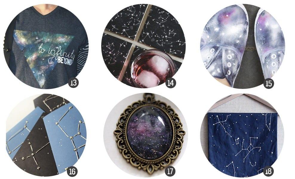 18 DIYs inspirados en la galaxia