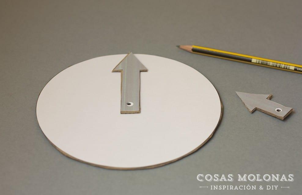 DIY Reloj de cartón reciclado para aprender las horas + plantilla