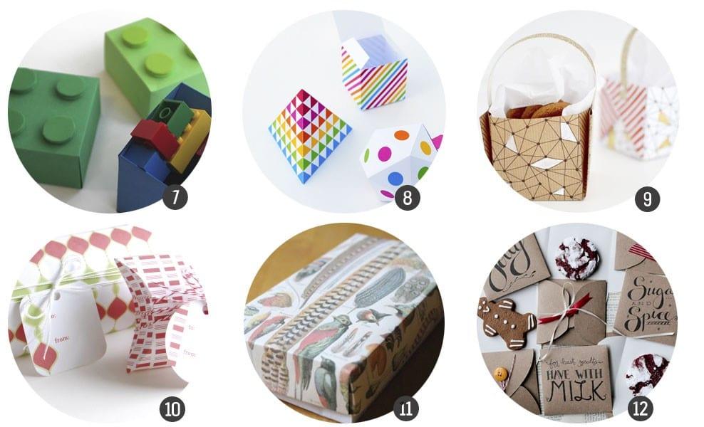 Imprimibles gratis: 18 plantillas de cajitas para regalo