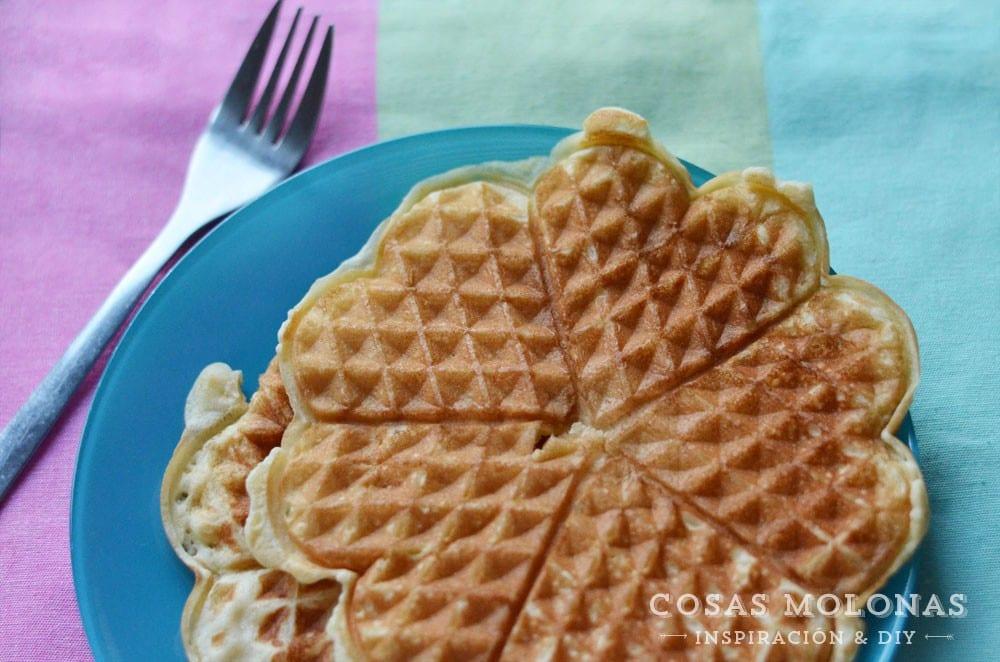 Receta Gofres Waffles