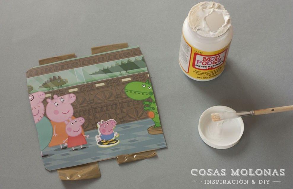 """Manualidades para niños: Puzzle de sus personajes favoritos con """"palitos de helado"""""""