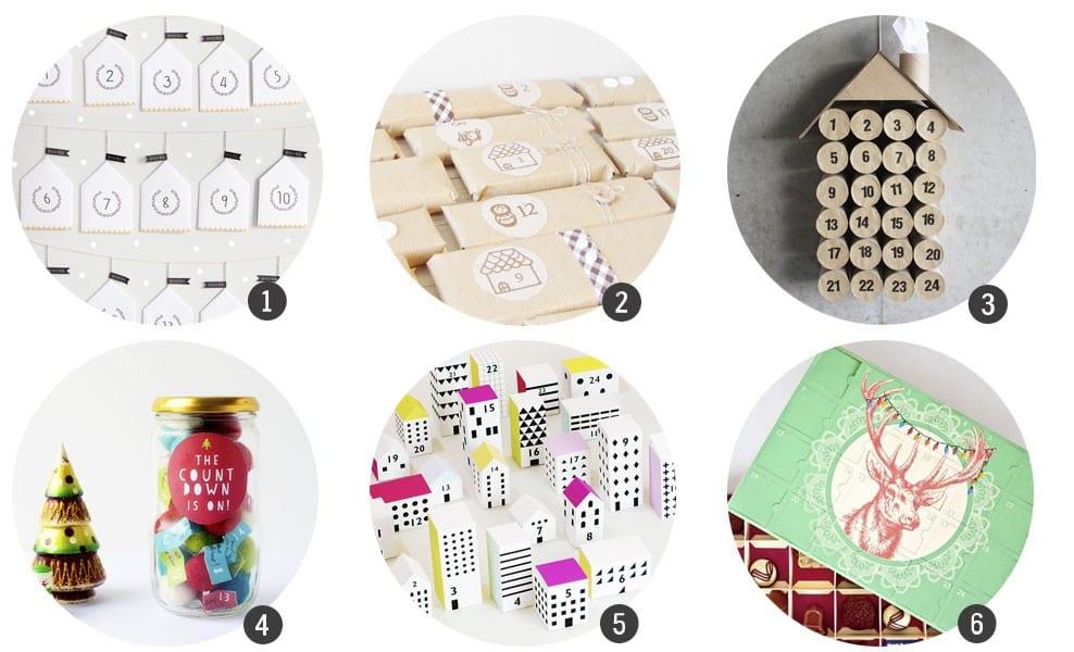 Calendarios de Adviento: 18 DIYs + imprimibles para hacerlo tú mismo