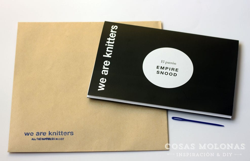 "Reseña: Kit de bufanda ""Empire Snood"" de We are knitters + ¡sorteo!"