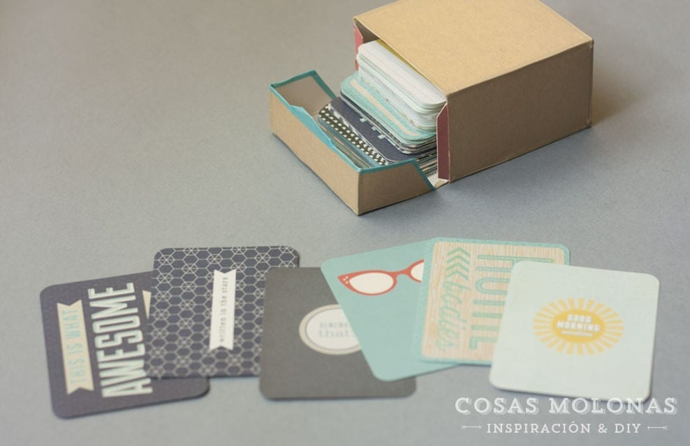 Project Life: Organizando las tarjetas para trabajar con ellas