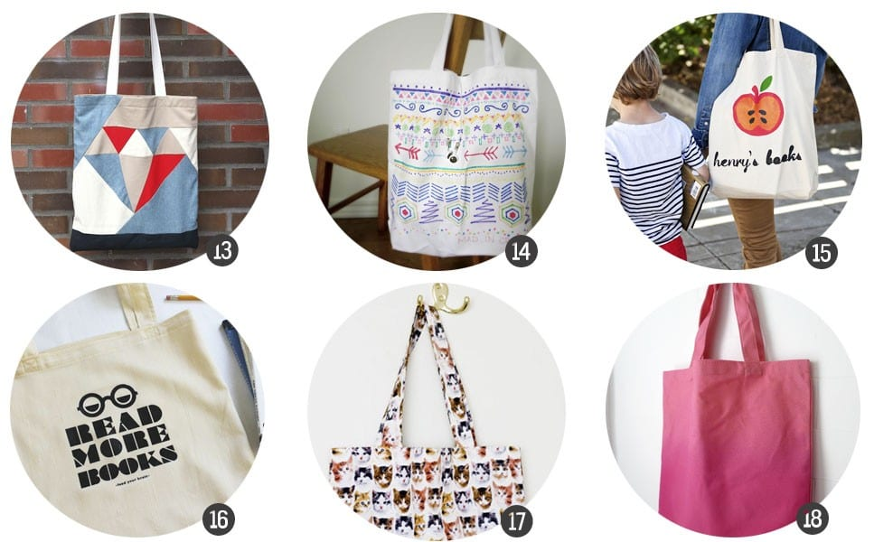 Regalos DIY: 18 DIYs e imprimibles para customizar tote bags