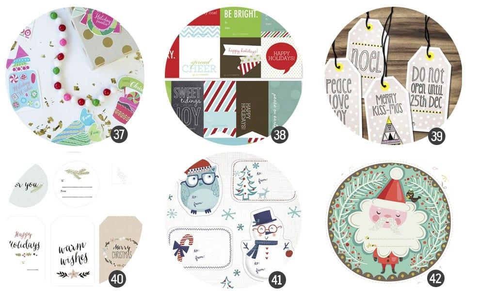 Imprimibles gratis: Guía de etiquetas de regalo para imprimir 2013