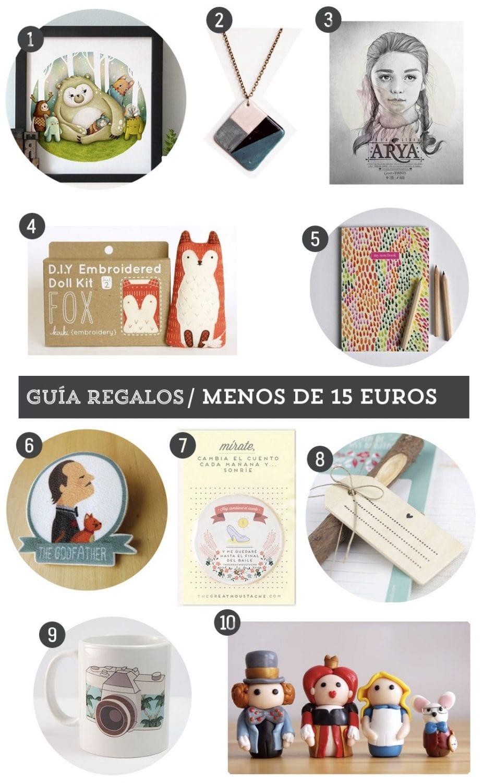 Guía de regalos: 10 regalos handmade por menos de 15 euros
