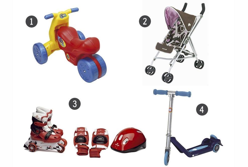 Guía de regalos: 8 regalos sobre ruedas para bebés y niños